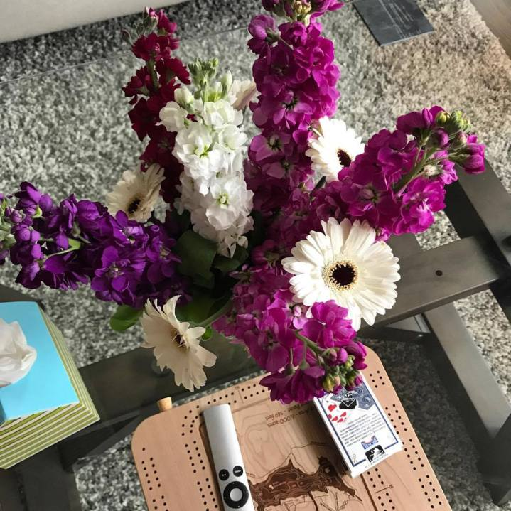 Fresh cut flowers from the market :D